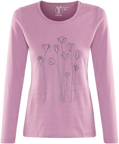Elkline Posy Langærmet T shirt Damer, chilipepperred | Find